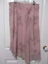 "LADIES PINK CHIFFON FABRIC STRAIGHT SKIRT WITH FOLD SIZE 14- 34 "" WAIST"