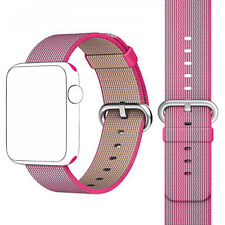 Original 38 40 MM Woven Nylon Strap Band Apple Watch Band Wrist Bracelet Pink