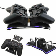 W~Dual USB Charging Station Dock For PS3 Wireless Controller Gamepad#W