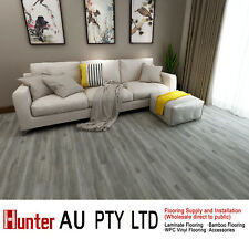 12MM Laminate Flooring-Grey Oak Color-Click Lock Floorboards Sample