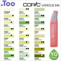 """Copic Various Ink """"YG(Yellow Green) Color Series""""Refill for Too Sketch and Ciao"""