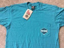 Harley Davidson Bar and Shield Front Pocket Turquoise Shirt Nwt Men's Large