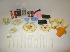 Chilton Pretend Play Food Dishes Set Vintage Kitchen Toy Cups Plates Cook 48 pcs