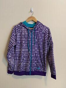 Under Armour Purple Teal Fleece Lined Hooded Zip Jacket