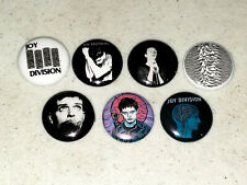 7 Buttons 1 Inch Pin Joy Division Ian Curtis Stain Glass Head Logo - Lot A