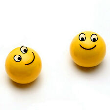 Universal 4 Pcs Car Yellow Smile Face Ball Wheel Tyre Valve Stems Air Dust Caps