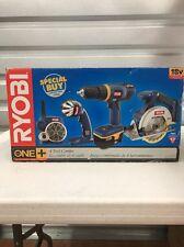 18v Ryobi 4pc Tool combo kit Drill Saw Light & Radio