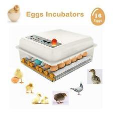 16 Eier Vollautomatische Brutmaschine Brutapparat Flächenbrüter Brüter Inkubator