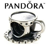 PANDORA S925 ALE STERLING SILVER Tea Cup and Saucer Charm Bead #790361 Retired
