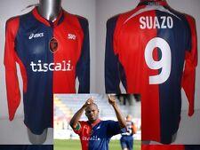 Cagliari SUAZO Honduras BNWT ADULT XL New Shirt Jersey Soccer Maglia Top Asics