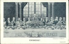 Military Poltical Propaganda CHIMERE - World Leaders at Banquet Dinner BIANCO