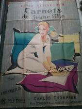 Affiche Cinéma - CARNETS DE JEUNE FILLE - 1958  Romy SCHNEIDER - Film de Thiele