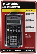 Nuovo di Zecca ORIGINALE Texas Instruments BA-II PLUS Calcolatrice Scientifica