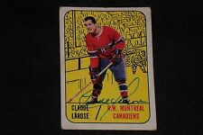 CLAUDE LAROSE 1967-68 TOPPS SIGNED AUTOGRAPHED CARD #4 CANADIENS