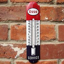 ESSO ENAMEL THERMOMETER esso thermometer vitreous motor oil logo garage VAC164