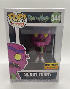 FUNKO POP RICK AND MORTY SCARY TERRY HOT TOPIC EXCLUSIVE 344 NO PANTS PANTSLESS