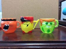 1969Vintage FUNNY FACE CUP lot of 3 Lefty Lemon Jolly Olly Orange and Watermelon