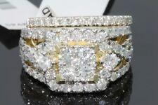 10K YELLOW GOLD 3.28 CT WOMEN REAL DIAMOND ENGAGEMENT RING WEDDING BAND RING SET