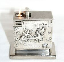 Vintage  Augusta Tavern Embossed Table Lighter in Working Condition W Germany