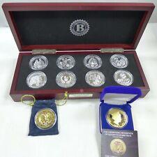 BRADFORD ROYAL SILVER CROWN COLLECTION 8 COINS COMPLETE CHERRY BOX NICE + BONUS