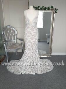 WTOO ''Alzbeta'' ivory/tawny wedding dress UK 6 - check measurements
