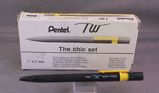 "Pentel TW ""Chic Set"" Ball Pen--Yellow---Retractable---BK307"