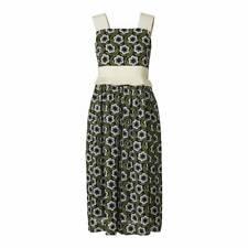 Orla Kiely Floral Daisy Poly Georgette Strappy Midi Frill Pleat Dress UK 8 36