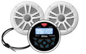 BOSS AUDIO MCKGB350W.6 Marine-Gauge System AM/FM Receiver, Speakers & Antenna