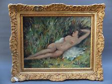 HENRI STENN 1903-93 HUILE  TOILE PEINTURE TABLEAU PAINTING NU FEMININ MONTMARTRE