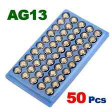 New 50pcs x AG13 LR44 357 A76 Button Cell Battery For Clocks Watches Calculators