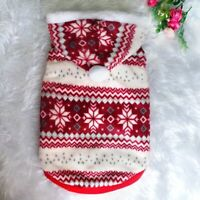 Christmas Dog Clothes Winter Pet Coat Jacket Warm Puppy Cat Costume Clothes