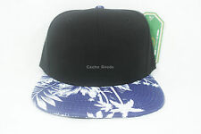 Floral Snapback Tropical Brim Blue New  Adjustable