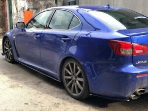CARBON FIBER SIDESKIRTS BAD LOOK2  FOR LEXUS IS  ISF  XE20