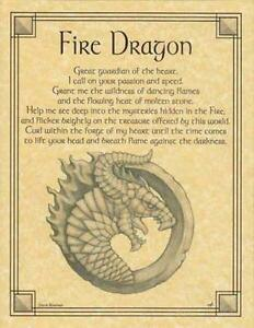 Fire Dragon Parchment-Like Page for Book of Shadows, Altars!