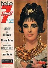 ▬► Télé 7 Jours 692 de 1973 LIZ TAYLOR_WEISSMULLER_ANNA GAEL_THEODORAKIS