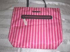 Victoria's Secret Tote Bag Handbag Supermodel Essentials  Pink Striped