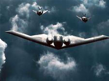 MILITARY AIR PLANE B-2 SPIRIT BOMBER F-117 NIGHTHAWK STEALTH POSTER PRINT BB936A
