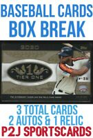 Topps 2020 Tier One Baseball Card Box Break - 1 Random Team⚾️MLB⚾️Break 2624