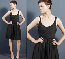 Stella McCartney little black silk retro dress UK12 EU40 US 8 10 NWOT