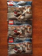 LEGO HARRY POTTER #30407 POLYBAGS x3 HARRY'S JOURNEY TO HOGWARTS NIP