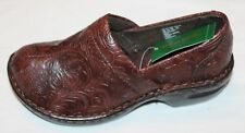 Thom McAn Women's Toronto Brown Floral Paisley Clog Shoes Size 6 Wide Width