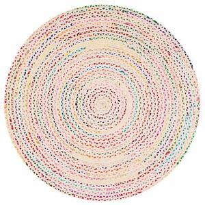 Rug 100% Cotton Handmade Reversible Area Rug modern living Rustic look rug