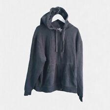 VINTAGE con 90s CHAMPION GRIGIO ANTRACITE Felpa con cappuccio-M-Streetwear Ondulata Sportswear