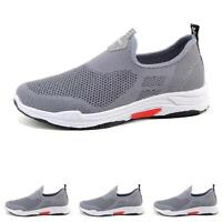 Fashion Sneakers Men's Casual Athletic Running Gym Loafer Fitness Slip On Shoes