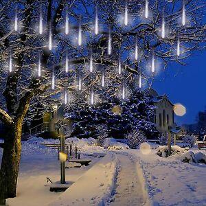Solar Meteor Shower Lights Falling Rain Tree String Light Garden Party Outdoor