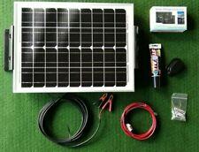 20W PV SOLAR PANEL FULL KIT CARAVAN MOTORHOME CAMPER 12v cable regulator bracket