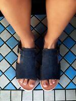 New Free People Oasis Wood Slip On Sandal size 10 MSRP: $148 Leather