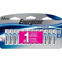 Energizer Ultimate Lithium AA Batteries 12 Pack Exp. 2037-2038