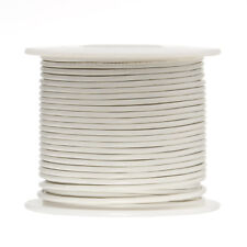 """26 AWG Gauge Stranded Hook Up Wire White 1000 ft 0.0190"""" PTFE 600 Volts"""