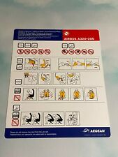 Aegean Airlines Airbus A320-200 Safety Card - 1/12